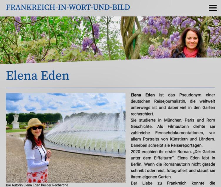 Elena-Eden-Portrait im Frankreich-Blog